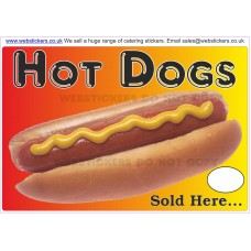 Hot dogs sold here stickers
