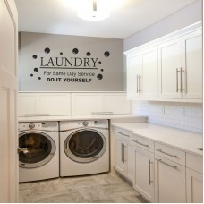 Do it yourself Laundry wall art