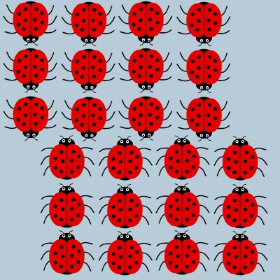 24 Red Ladybird stickers