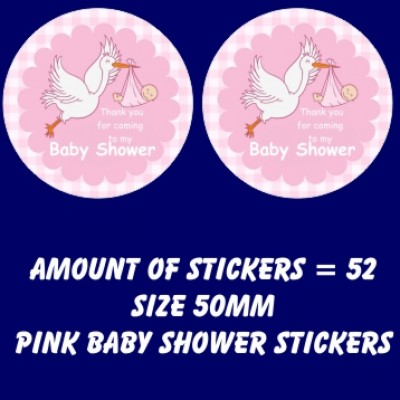 Baby Shower stickers   (52 stickers)