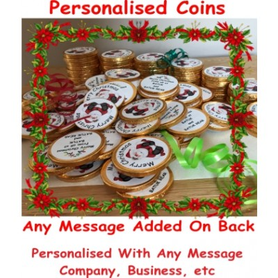 Bulk Personalised christmas chocolate coins, Business, Companies, Corporate Gift