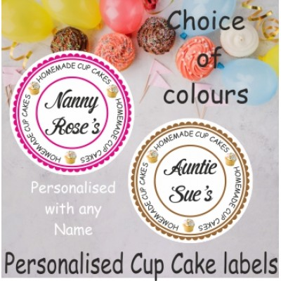 Personalised Cup Cake Labels