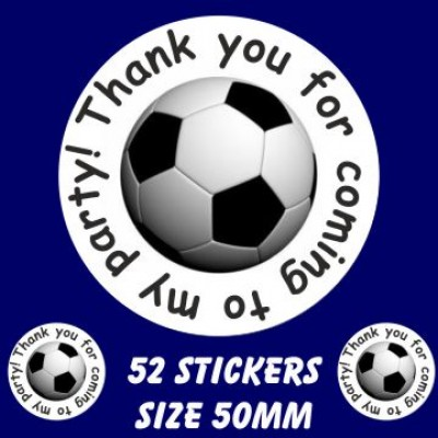 Boys football Party Stickers   (52 stickers)
