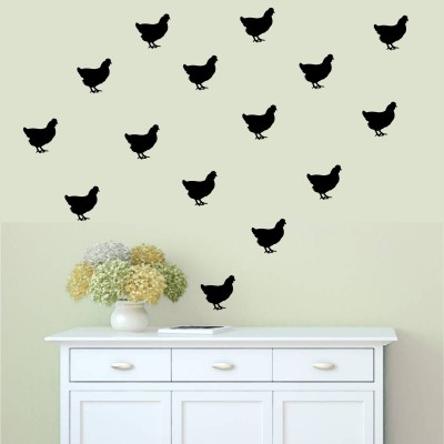 30 Decorative Vinyl Chicken Decal Stickers