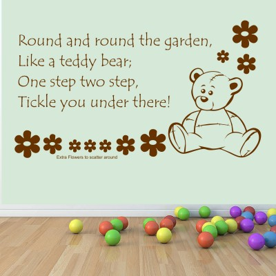 Round The Garden Nursery Rhyme Wall Sticker