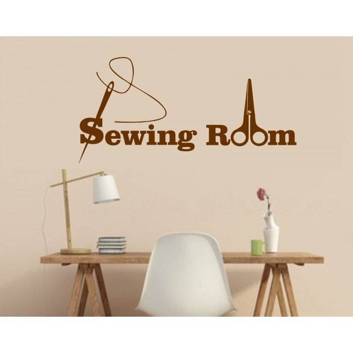 sewing room vinyl wall sticker for dressmakers, seamstress, craft